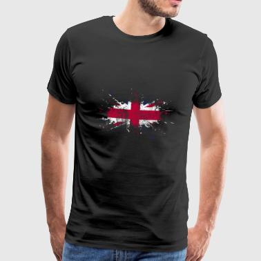 UK flag gave britisk flag - Herre premium T-shirt