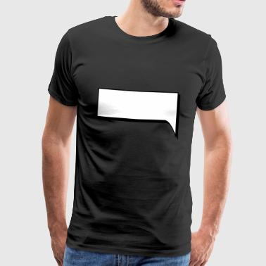 Comic speech bubble Blanco - Men's Premium T-Shirt