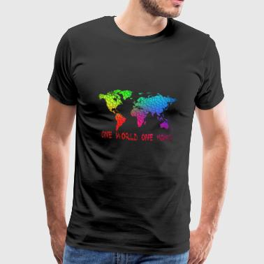 One World One Home - Mannen Premium T-shirt
