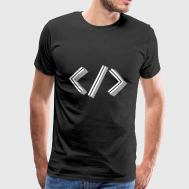 Retro Bracket's - Full Stack Developer HTML XML - Männer Premium T-Shirt