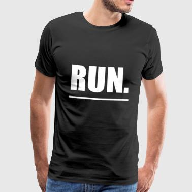 Run running sport idea - Men's Premium T-Shirt