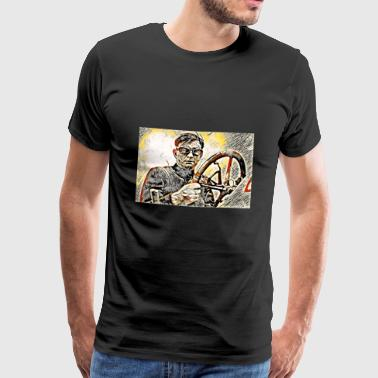 Bob Burman Racing Driver 1905 - Premium T-skjorte for menn