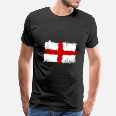 England 1966 Football Design Great Britain flag, England flag, great britain - Men's Premium T-Shirt