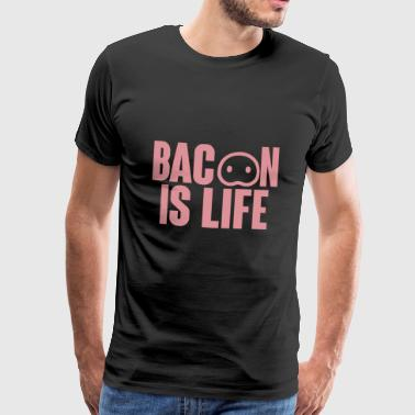 Pig / Farm: Bacon Is Life - Men's Premium T-Shirt