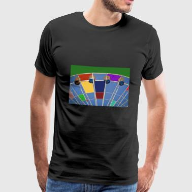 Grande roue d'abstraction - T-shirt Premium Homme