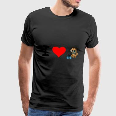 I love baby cats. - Men's Premium T-Shirt