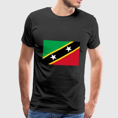 Saint Kitts and Nevis Flag - Men's Premium T-Shirt
