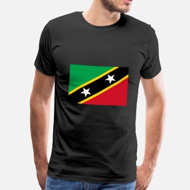 Nevis Saint Kitts and Nevis Flag - Men's Premium T-Shirt