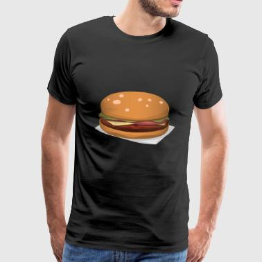 burger hamburger cheeseburger fast food fastfood50 - Männer Premium T-Shirt