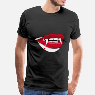 Dracula Vampire Dracula vampire mouth lips - Men's Premium T-Shirt