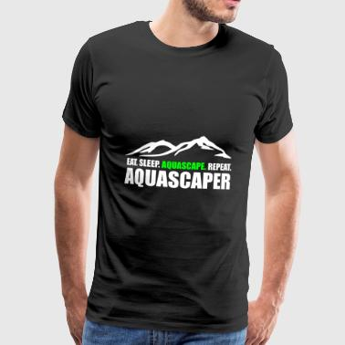 Aquascaper Aquascaping Aquarium Aqua Gift - Men's Premium T-Shirt