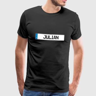 Julian name tag gift - Men's Premium T-Shirt