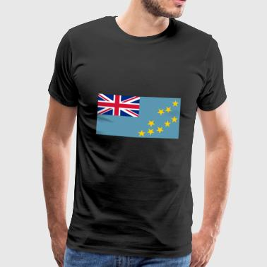 Tuvalu Flagg - Men's Premium T-Shirt