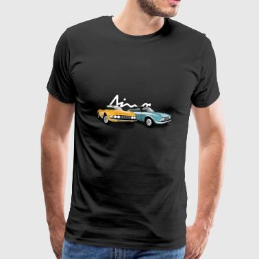 Dino Spider & Coupé 2000 in yellow - turquoise - Men's Premium T-Shirt