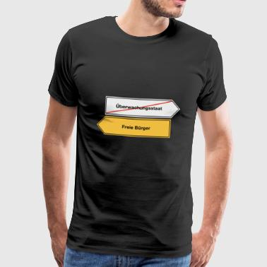 Surveillance State - Free Citizens - Men's Premium T-Shirt