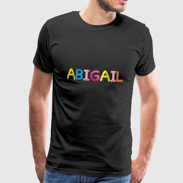 Fluffy Abigail Letter Name - Premium T-skjorte for menn
