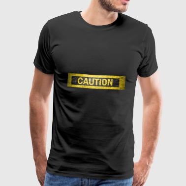 Caution brick wall graffiti - Men's Premium T-Shirt