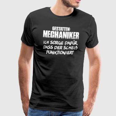 Allow mechanic mechanic mechanics - Men's Premium T-Shirt