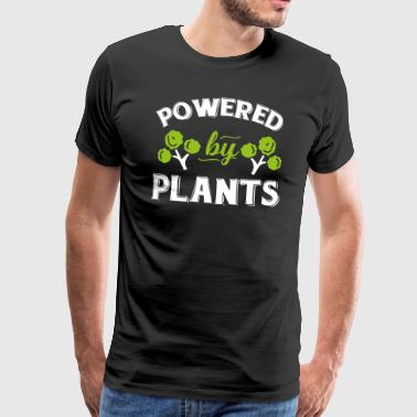 Vegan Shirt Powered By Plants Vegetarian Gift Tee - Men's Premium T-Shirt