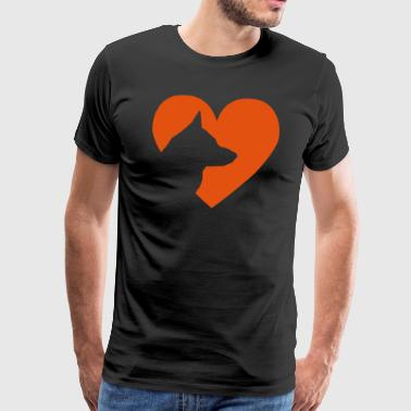 Heart with german shepherd Vector - Men's Premium T-Shirt