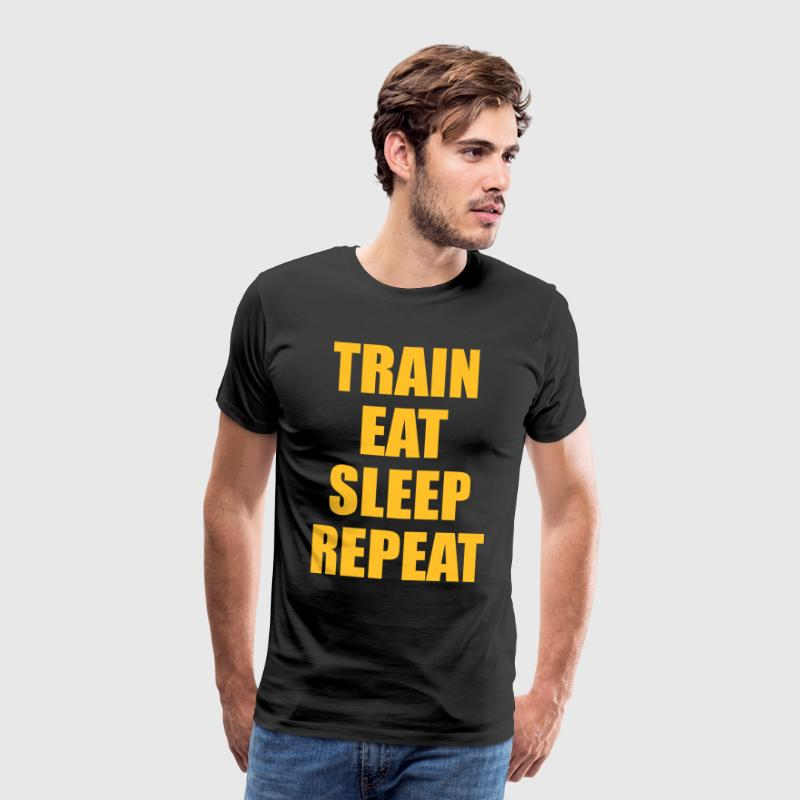 Train Eat Sleep Repeat - Koszulka męska Premium