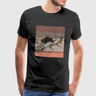 Retro raccoon - Men's Premium T-Shirt