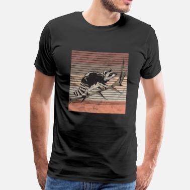 North Retro raccoon - Men's Premium T-Shirt