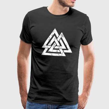 Celtic Knot Valknut Viking's Odin Sign Wotan's Knot - Men's Premium T-Shirt