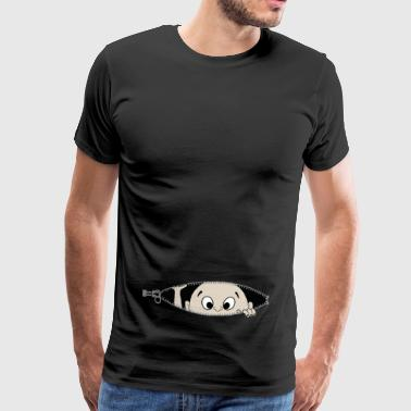 Out Baby looks out of belly - Men's Premium T-Shirt