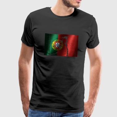 Portugal flag cool vintage used style - Men's Premium T-Shirt