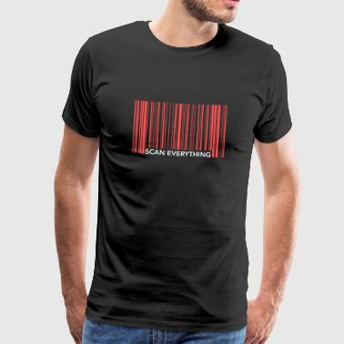 Funny Barcode Scan Everything - Männer Premium T-Shirt