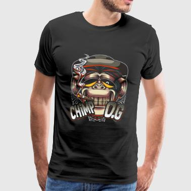 Chimpanser vintage trend jungle - Herre premium T-shirt