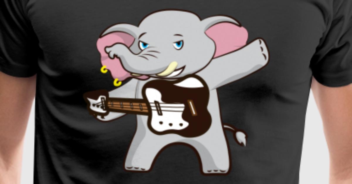 Lustiger Elefant mit Gitarre Geschenk von TeeQuenn | Spreadshirt