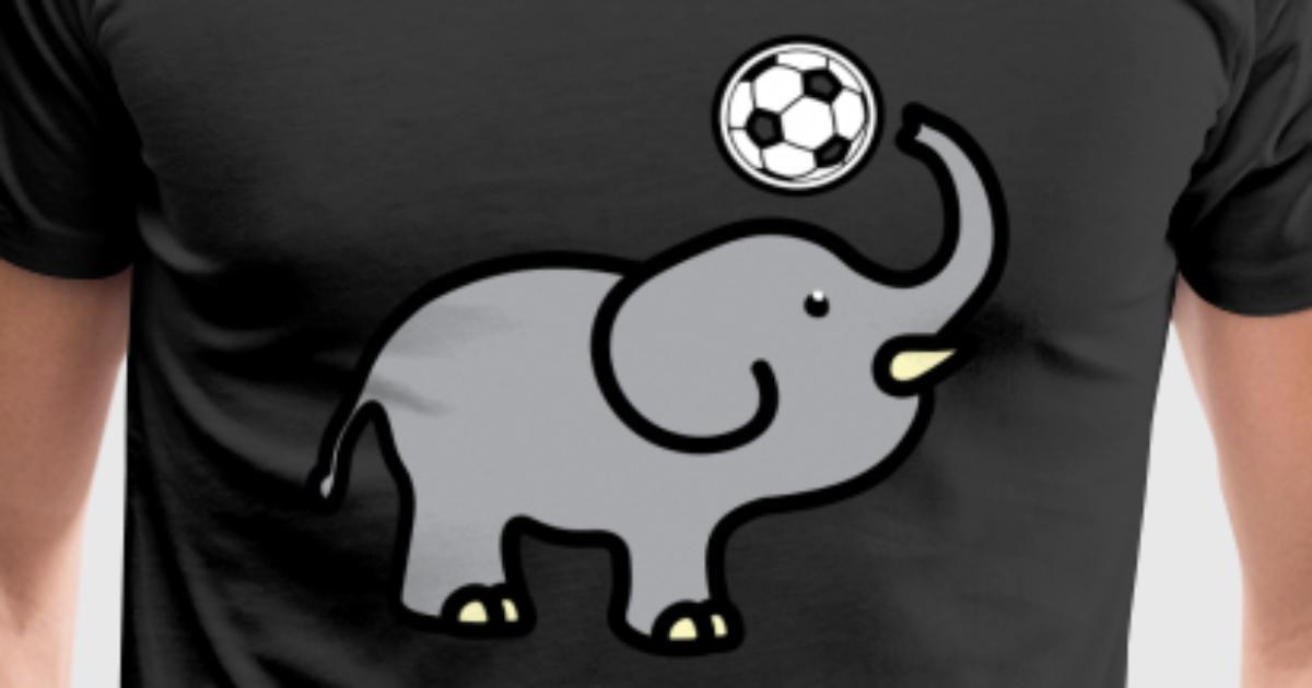 Lustiger Elefant mit Fussball Geschenk von TeeQuenn | Spreadshirt