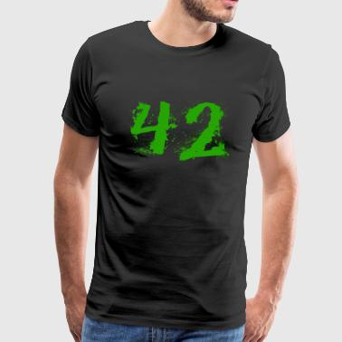 The answer to everything: 42 - Men's Premium T-Shirt