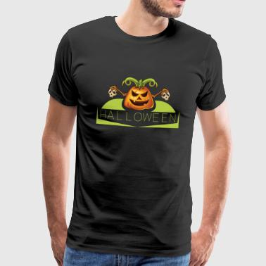 Halloween Gresskar Scary Scary Ghost - Premium T-skjorte for menn