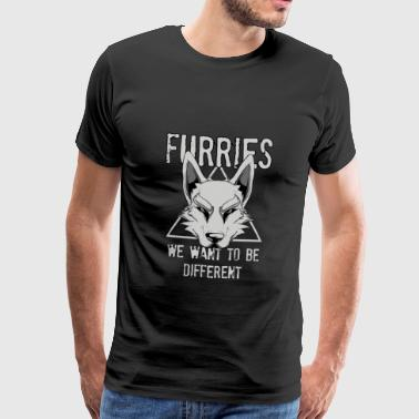 Furries We Want To Be Different Furry Cosplay - Men's Premium T-Shirt
