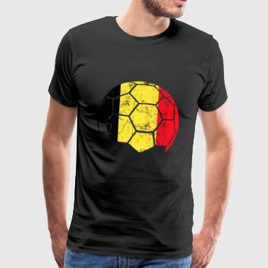 Belgium soccer ball football - Men's Premium T-Shirt