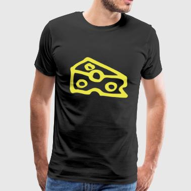Triangular cheese with four holes - Men's Premium T-Shirt