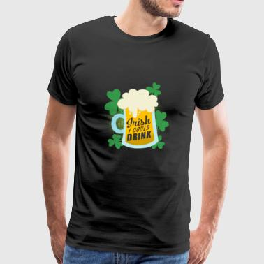 Irish Beer Patrick's Day - Mannen Premium T-shirt