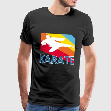 Retron Vintage Style Karate Martial Arts Fighter - Men's Premium T-Shirt