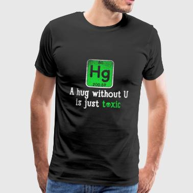 Funny Science Chemical Element Hg Gift Gift Gift - Mannen Premium T-shirt