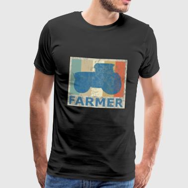 Retro Vintage Style Tractor Tractor Farm Tractor - Men's Premium T-Shirt