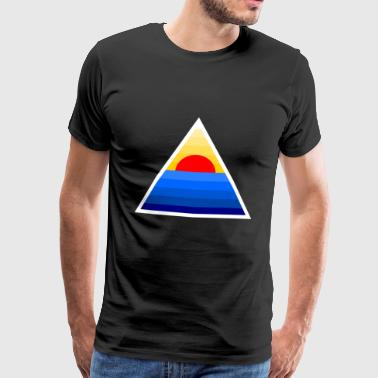 Tone Sunset triangle - Men's Premium T-Shirt
