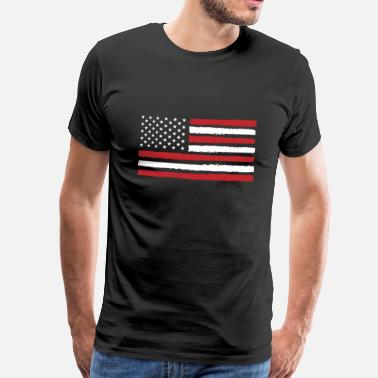 Amerika USA! Amerika! Vlag! Stars and Stripes! Patriot! - Mannen Premium T-shirt