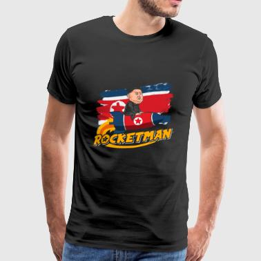 Rocketman Kim Jong-Un Rocket Man Noord-Korea, VS. - Mannen Premium T-shirt