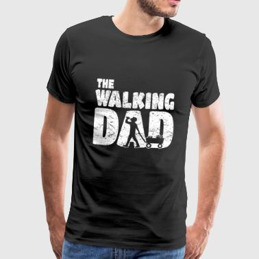 Walking Dad Funny Man's Day Father's Day Gift - Premium T-skjorte for menn