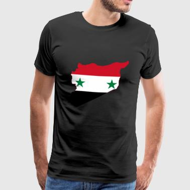 Flag map of Syria - Männer Premium T-Shirt