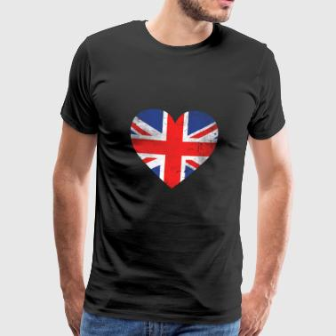 Gave UK Flag britisk flag - Herre premium T-shirt