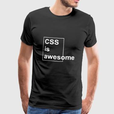 Css CSS awesome white - Men's Premium T-Shirt